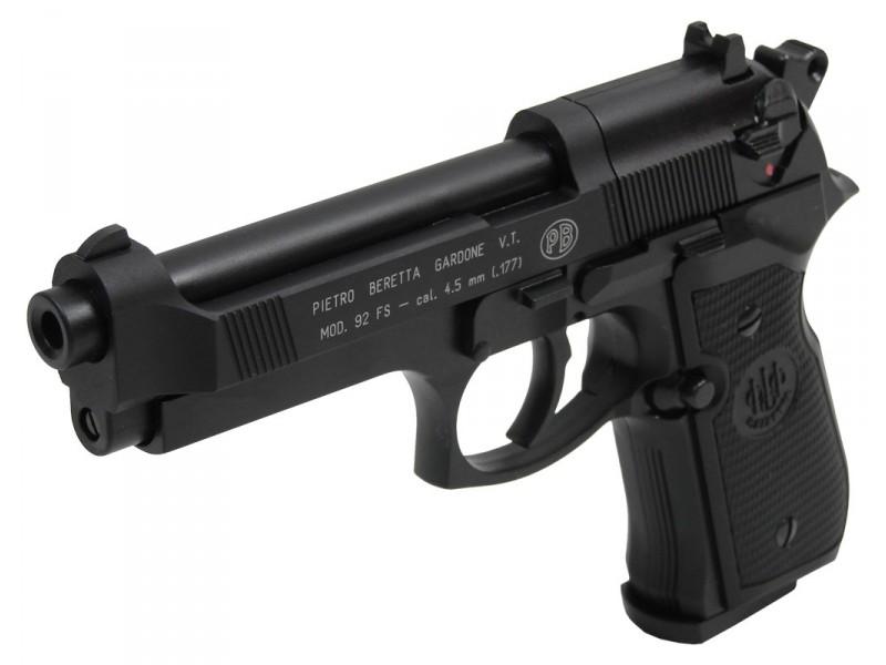 pistolet beretta m92 fs noir a plomb 4 5mm co2. Black Bedroom Furniture Sets. Home Design Ideas