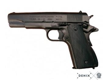 REPLIQUE DENIX INERTE COLT, USA 1911 (World War I & II) NOIR