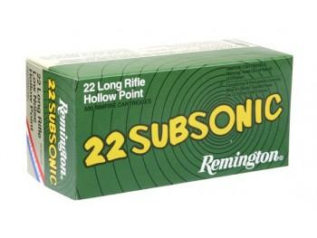 CARTOUCHE REMINGTON 22LR SUBSONIQUE BOITE DE 50