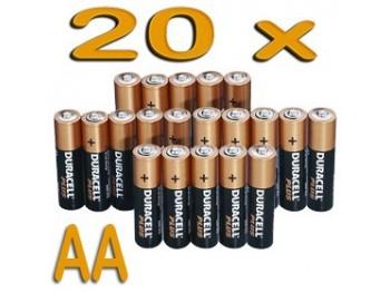 Duracell Plus MN1500 - AA / LR6 / Mignon - 20 pièces