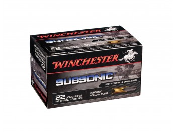 WINCHESTER SUBSONIC 40 GR HP 22Lr X50