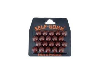 Self-Gomm Balles caoutchouc  x20