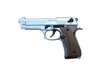 Pistolet Kimar 92 chromé Crosse Bois